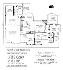 bedroom living room house plans one story per plan free shipping
