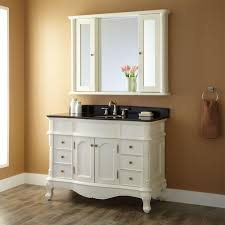 white bathroom cabinet with mirror 48 sedwick creamy white vanity bathroom