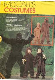 Bigfoot Halloween Costume Kids Mccalls Pattern 7863 Costume Ape Monkey Chimp Bigfoot Bear Child U0027s