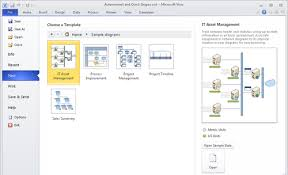 microsoft visio 2010 starting a new diagram from a sample