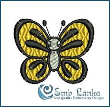 flying butterfly embroidery design emblanka com