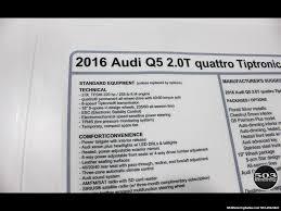 Audi Q5 60 000 Mile Service - 2016 audi q5 2 0t quattro premium plus only 7k miles
