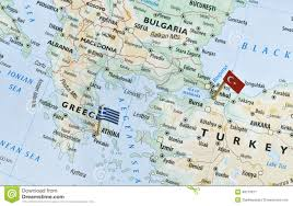 Holiday World Map by Greece And Turkey Map Holiday Destinations Stock Photo Image