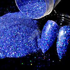 holographic diamond blue nail art glitter powder diy uv manicure