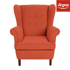 Argos Patio Furniture Covers - collection martha fabric wingback chair burnt orange from argos