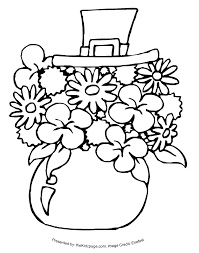 shamrock coloring page photographic gallery st patricks coloring