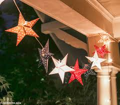 Paper Christmas Lights Paper Star Lights Garland Lia Griffith