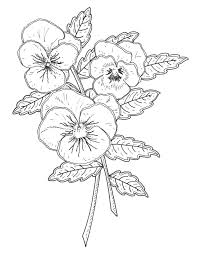 pansy rubber stamp designs penny black ca emilywallis