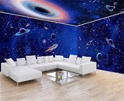 chambre enfant espace 3d photo papier peint peinture murale personnalisée enfants