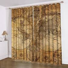 Shower Curtain World Map World Map Pattern Window Curtain Living Room Drapes Curtain Panel