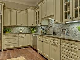 Light Colored Kitchen Cabinets Green Color Kitchen Cabinets Grey Mosaic Granite Countertop Mosaic