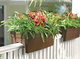 deck railing planter for 2x4 or 2x6 railings