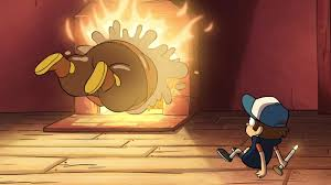 image s1e3 wax figure jumping into fireplace png gravity falls