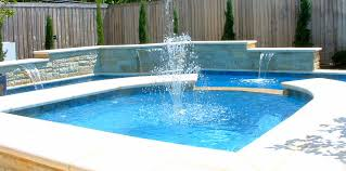 above ground pool fountains and waterfalls round designs