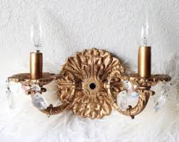 wall sconce candelabra 3 candle home interior vintage ebay crystal wall sconce etsy