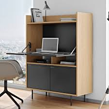 Oak Computer Armoire by Lime Desk In Oak Pure Black By Temahome 9500 053276 Temahome