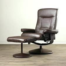 Leather Swivel Recliner Ergonomic Reclining Chair With Ottoman Design Bonded Leather