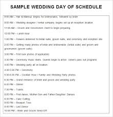 wedding agenda templates wedding day itinery europe tripsleep co