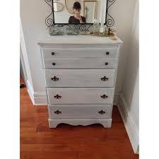 rustic whitewashed 4 drawer dresser aptdeco