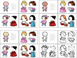 printable paper doll patterns for kids coloring version
