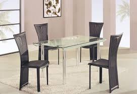 rectangle glass kitchen table high class rectangular glass top dining furniture set modern