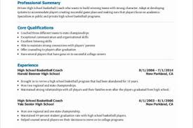 Basketball Resume Track Coach Cover Letter Resume Examples For Professionals Resume