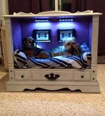Dog Bed Nightstand Recycling Old Furniture Suitcases Wooden Boxes For Pet Beds
