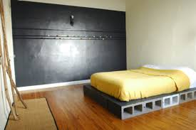Places That Sell Bed Frames Cinderblock Bed Frame For A While Can Be Painted Or Left For The