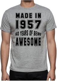 60 year birthday t shirts 60th birthday 60 years of being awesome party gift present 1957