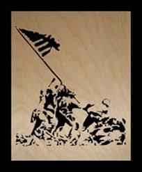 Flag Iwo Jima Iwo Jima Flag Raising Scroll Saw Art Shophandmade