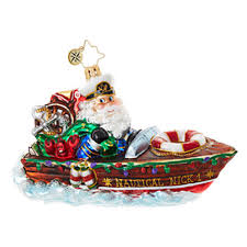 christopher radko ornaments radko santa claus nautical nick 1018794