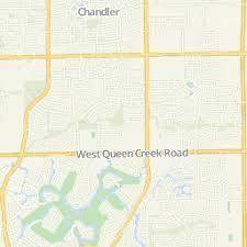 map of chandler az hamilton high in chandler az area map us best