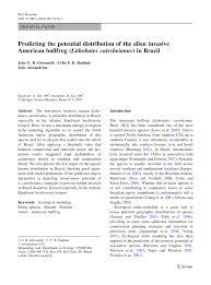 predicting the potential distribution of the alien invasive