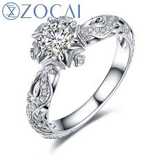 aliexpress buy new arrival hight quality white gold zocai new arrival and series real diamond