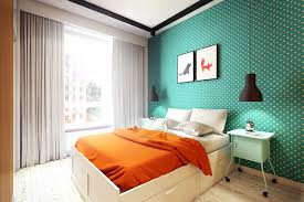 Bedroom Ideas Teal Walls 2 Sunny Apartments With Quirky Design Elements