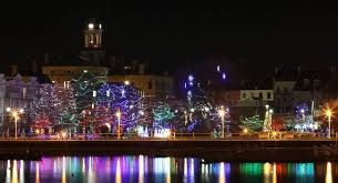 all lit up for christmas magic in cobourg northumberland today