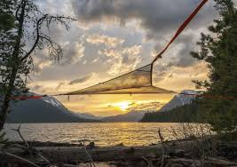 mesh three point hammock for weather