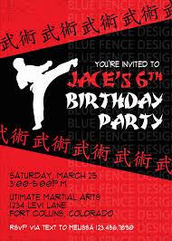 boy karate birthday invitation karate birthday karate