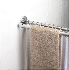 permanent curved shower curtain rod shopko contemporary bathroom