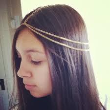 chain headpiece gold chain headpiece