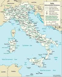 italy map travel map of italy regional maps for northern central southern