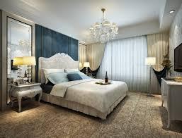 luxury bedroom design grey fur rug on the soft grey tile