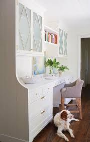 cabinets over kitchen desk design ideas