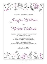 wedding invitations borders and modern wedding invitation with flower and nature