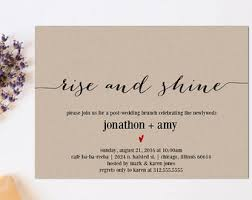 brunch invites brunch invitation etsy