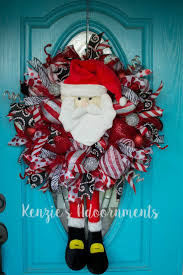 80 best christmas santa wreaths and decorations images on
