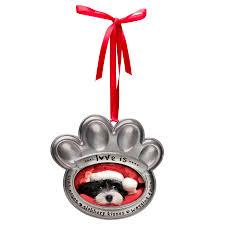 wholesale photo pet paw christmas ornaments neil enterprises