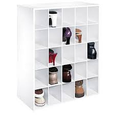 shoe organizer essential home 25 pair shoe organizer white