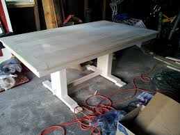making a trestle table how to build a trestle table plans table designs