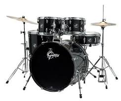 Comfortable Drum Throne Gretsch Rge625 Renegade 5 Piece Drum Kit With Cymbals Black Reverb